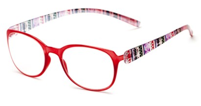 Angle of The Leigh in Pink Multi, Women's Square Reading Glasses