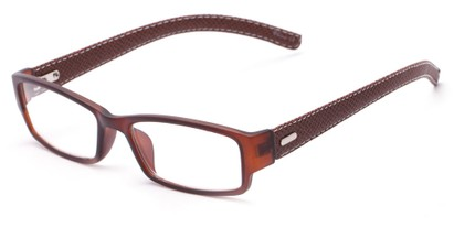 Angle of The Norfolk in Brown, Women's and Men's Rectangle Reading Glasses