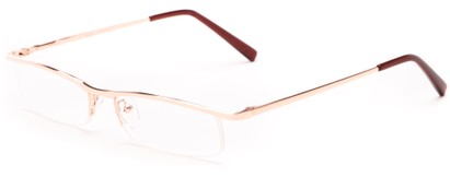 Angle of The Echo in Gold, Women's and Men's Rectangle Reading Glasses