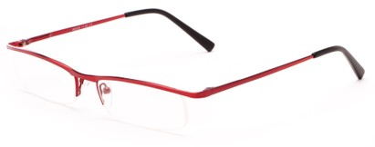 Angle of The Echo in Red, Women's and Men's Rectangle Reading Glasses