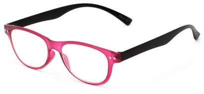 Angle of The Star Flexible Reader in Pink/Black, Women's and Men's Rectangle Reading Glasses