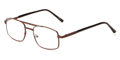 Angle of The Leonardo in Bronze, Women's and Men's Aviator Reading Glasses