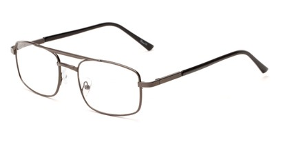 Angle of The Leonardo in Grey, Women's and Men's Aviator Reading Glasses