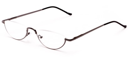 Angle of The Miles in Gunmetal, Women's and Men's Oval Reading Glasses