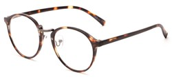 Angle of The Rory in Glossy Tortoise, Women's and Men's Round Reading Glasses