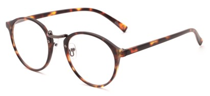 Angle of The Rory in Matte Tortoise, Women's and Men's Round Reading Glasses