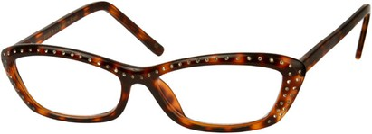 Angle of The Josephine in Brown Tortoise, Women's and Men's