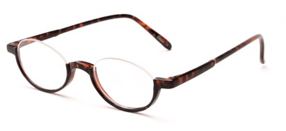 Angle of The Freesia in Tortoise, Women's and Men's Oval Reading Glasses