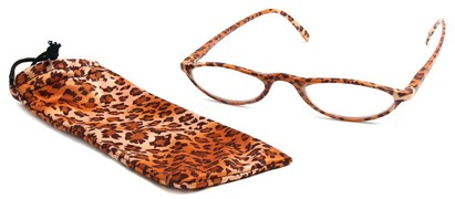Angle of The Michelle in Orange Cheetah, Women's and Men's