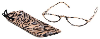 Angle of The Michelle in Brown Zebra, Women's and Men's