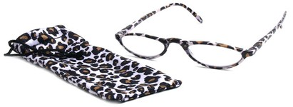 Angle of The Michelle in White Leopard, Women's and Men's