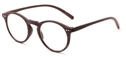 Angle of The Blue in Dark Brown, Women's and Men's Round Reading Glasses