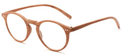 Angle of The Blue in Light Brown, Women's and Men's Round Reading Glasses
