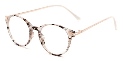 Angle of The Lola in Grey/Black Tortoise, Women's Round Reading Glasses