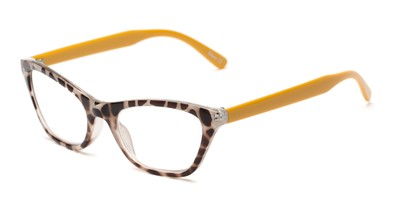 Angle of The Addy in Tortoise/Yellow, Women's Cat Eye Reading Glasses