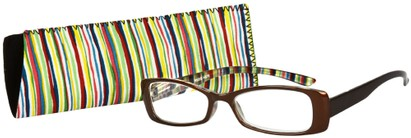 Angle of The Lucy in Glossy Brown Multi, Women's and Men's