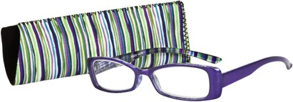 Angle of The Lucy in Glossy Purple Multi, Women's and Men's