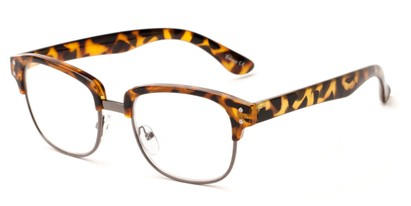 Angle of The Finnegan in Tortoise/Grey, Women's and Men's Browline Reading Glasses