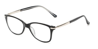 Angle of The Scranton in Black, Women's Cat Eye Reading Glasses