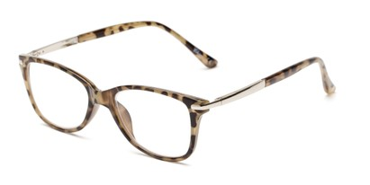 Angle of The Scranton in Light Tortoise, Women's Cat Eye Reading Glasses
