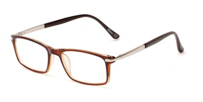 Angle of The Collector in Brown, Women's and Men's Rectangle Reading Glasses