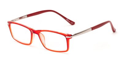 Angle of The Collector in Red, Women's and Men's Rectangle Reading Glasses