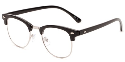Angle of The Almond in Black, Women's and Men's Browline Reading Glasses