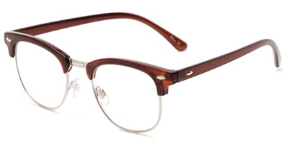 Angle of The Almond in Brown, Women's and Men's Browline Reading Glasses