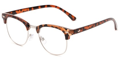 Angle of The Almond in Tortoise, Women's and Men's Browline Reading Glasses