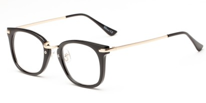 Angle of The River in Black, Women's and Men's Retro Square Reading Glasses