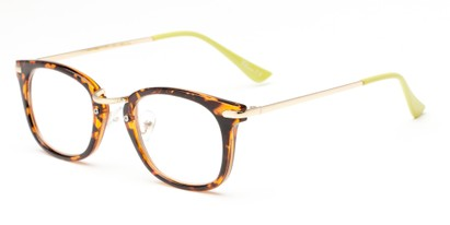Angle of The River in Tortoise/Lime, Women's and Men's Retro Square Reading Glasses