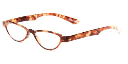 Angle of The Tulip in Brown/Tan Floral, Women's Cat Eye Reading Glasses
