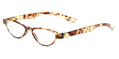 Angle of The Tulip in Brown/Green Floral, Women's Cat Eye Reading Glasses
