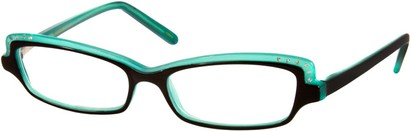 Angle of The Macy in Turquoise and Black, Women's and Men's