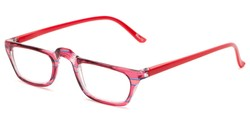 Angle of The Dolores in Pink/Blue Stripes with Red, Women's Rectangle Reading Glasses