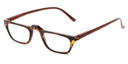 Angle of The Dolores in Tortoise with Brown, Women's Rectangle Reading Glasses