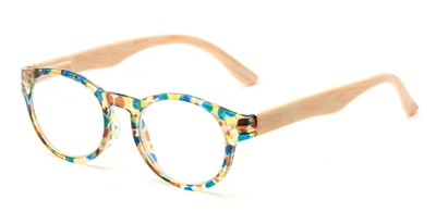Angle of The Fairy in Blue/Yellow, Women's Round Reading Glasses