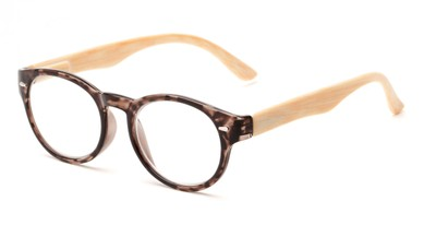 Angle of The Fairy in Brown/Black, Women's Round Reading Glasses