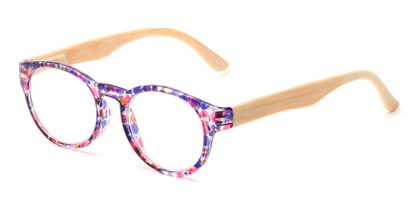 Angle of The Fairy in Purple/Pink, Women's Round Reading Glasses