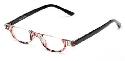 Angle of The Rita in Red Stripe/Black, Women's Oval Reading Glasses