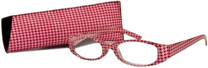 Angle of The Cora in Pink, Women's Oval Reading Glasses