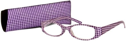 Angle of The Cora in Purple, Women's Oval Reading Glasses