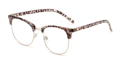 Angle of The Crafter in Black/Clear Tortoise with Silver, Women's and Men's Browline Reading Glasses