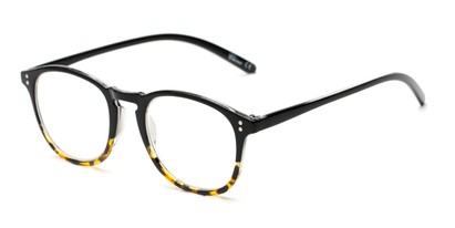 Angle of The Sunshine in Black/Tortoise Fade, Women's and Men's Round Reading Glasses