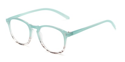 Angle of The Sunshine in Light Blue/Stripe Fade, Women's and Men's Round Reading Glasses