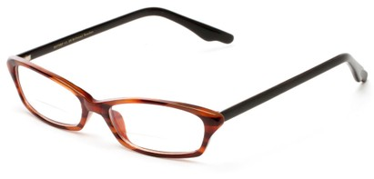 Angle of The June Bi-Focal in Brown Stripe , Women's Cat Eye Reading Glasses