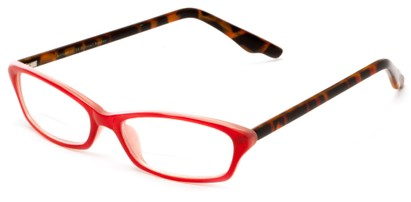 Angle of The June Bi-Focal in Red and Tortoise, Women's Cat Eye Reading Glasses