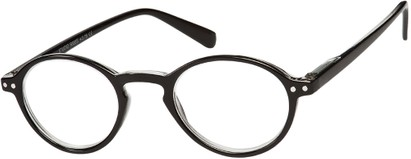 Angle of The Studio in Black, Women's and Men's Round Reading Glasses