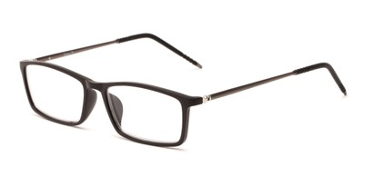 Angle of The Prince in Black/Black, Women's and Men's Rectangle Reading Glasses