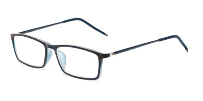 Angle of The Prince in Dark Blue, Women's and Men's Rectangle Reading Glasses